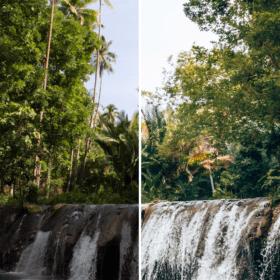 Before - After Preset Lightroom Reisplaatje Waterval