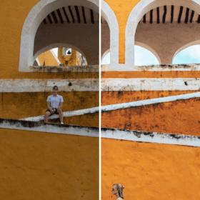 Before - After Preset Lightroom Reisplaatje Vrolijke Kleuren