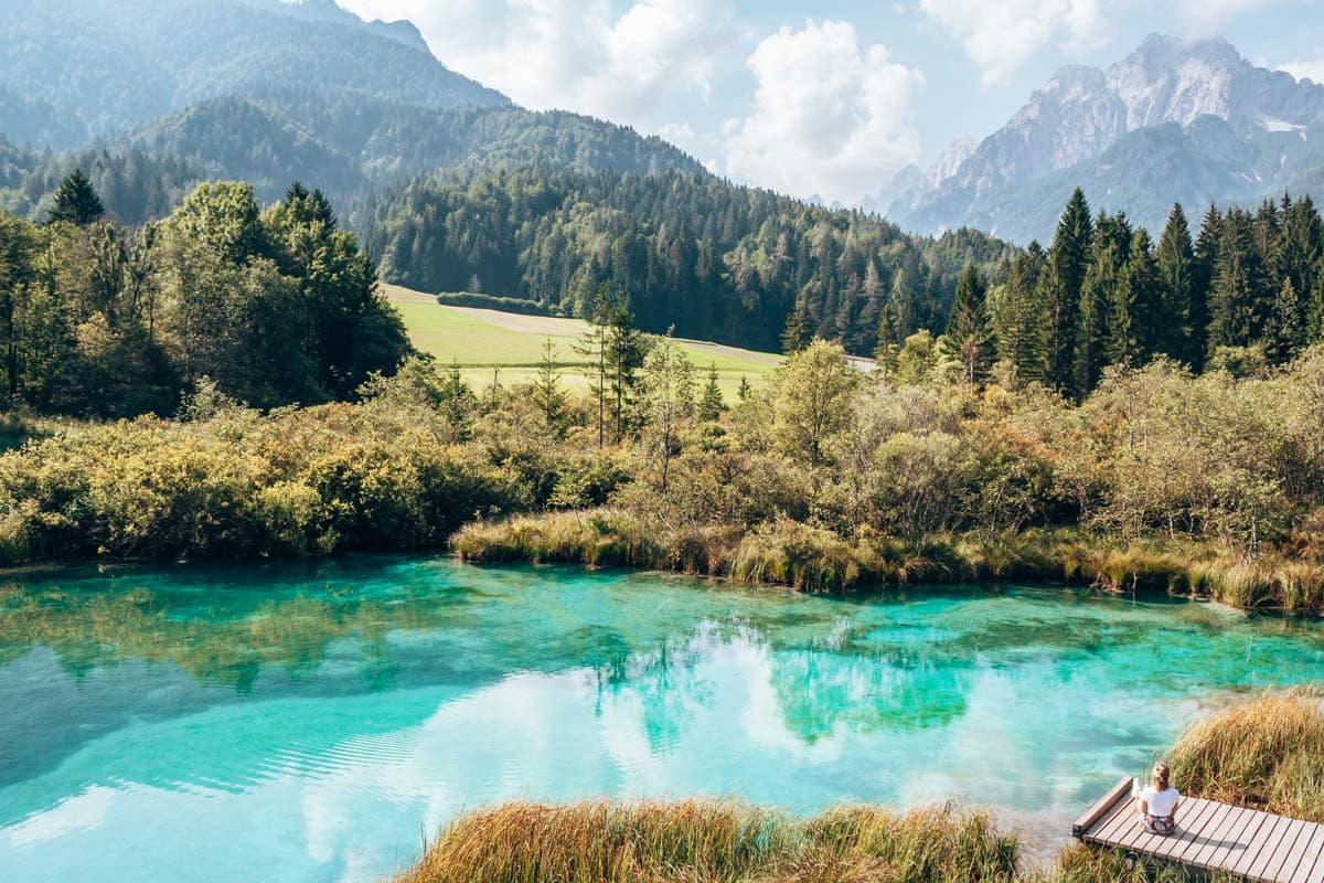 Zelenci Nature Reserve in Slovenie