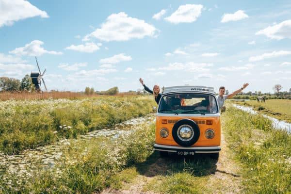 Op vakantie met de Volkswagen bus, corona crisis, kamperen de Lievelinge