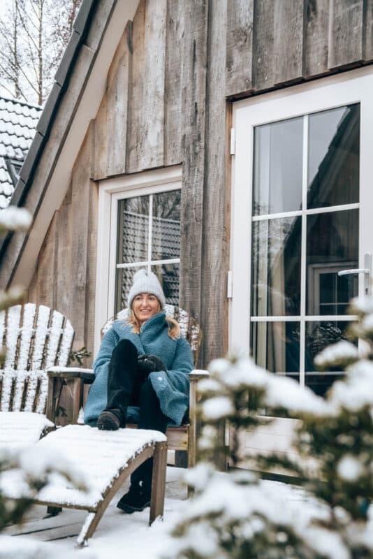 Vakantiehuisje in de winter bij Hof van Salland
