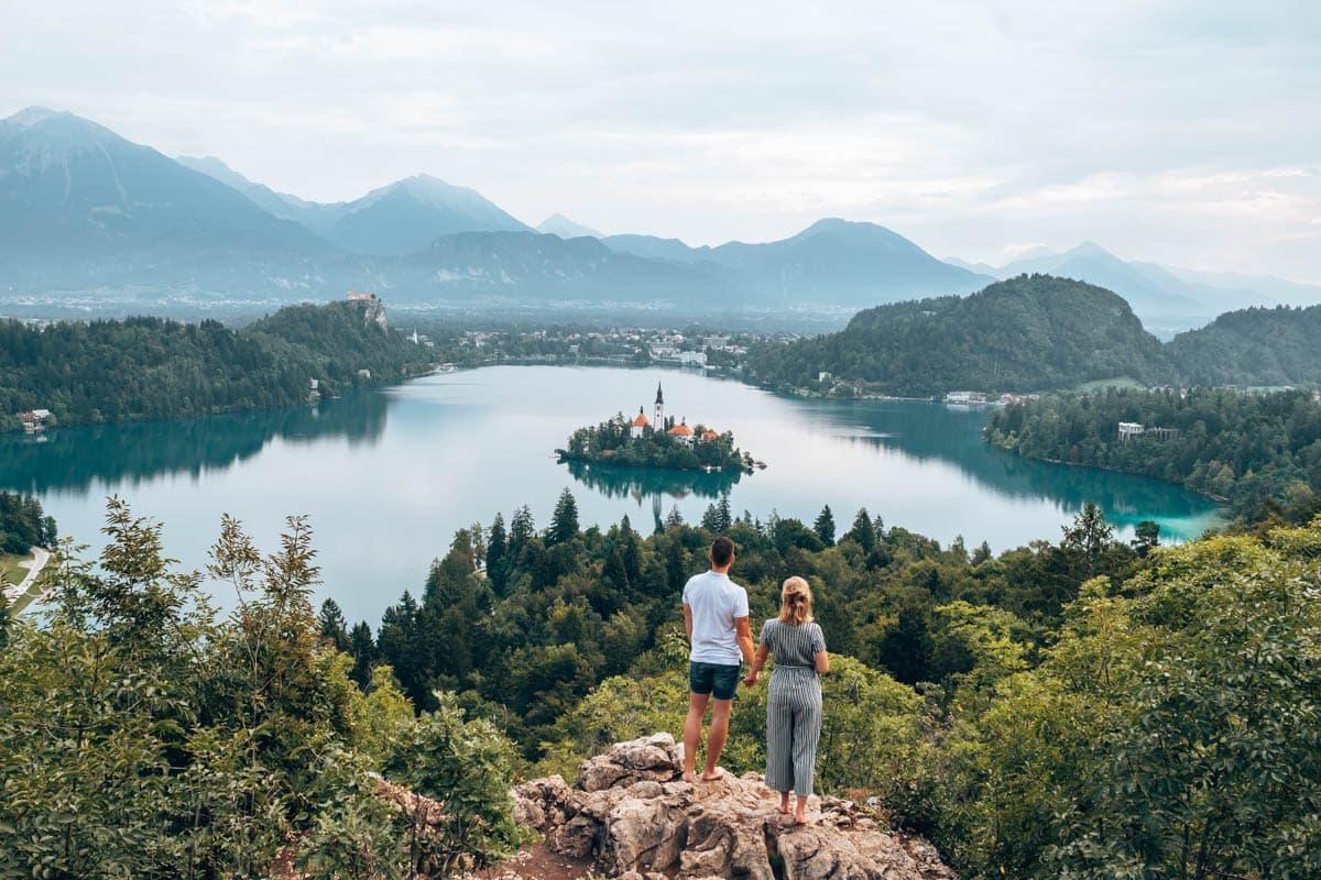 Uitzichtpunt Ojstrica bij het meer van Bled