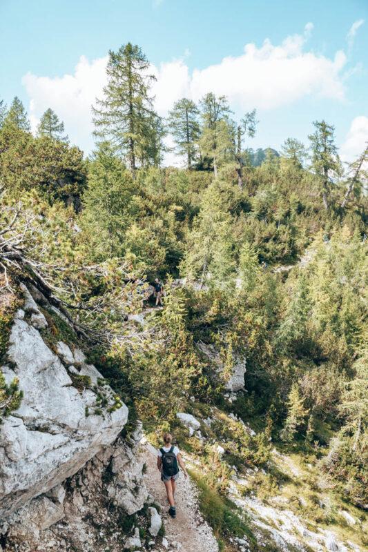 Startpunt hike Slemenova Spica in het Triglav Nationaal Park