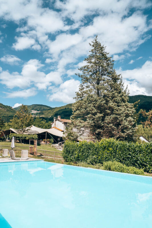 Tip glampings in Toscane: Rancone Lodges