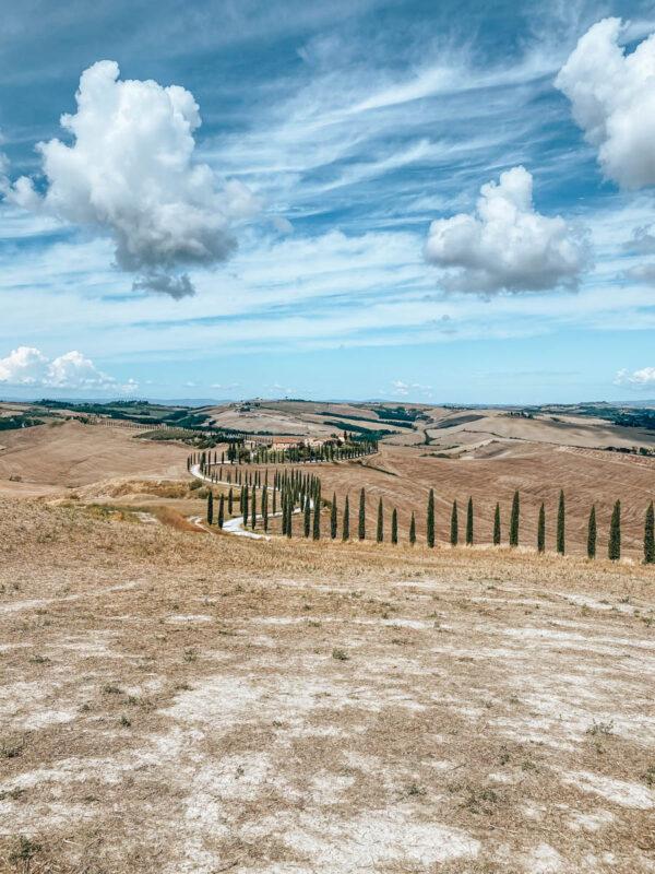 Bekende fotoplek in Toscane in de Val 'd Orcia regio